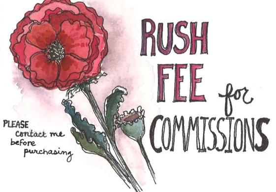 Commission rush fee