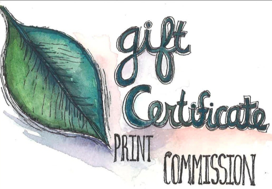 Print commission gift certificate